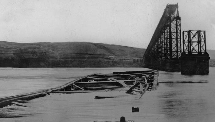 Picture of a collapsed bridge